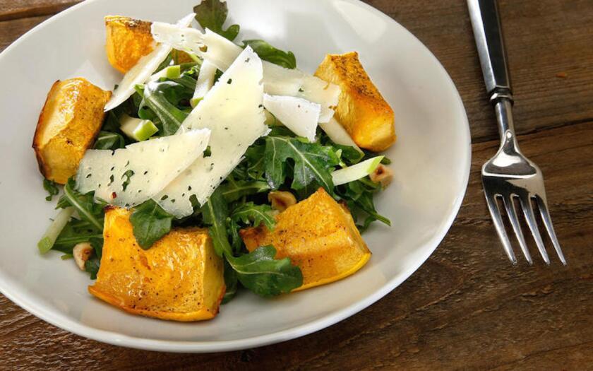 Recipe: Roasted acorn squash and apple salad.