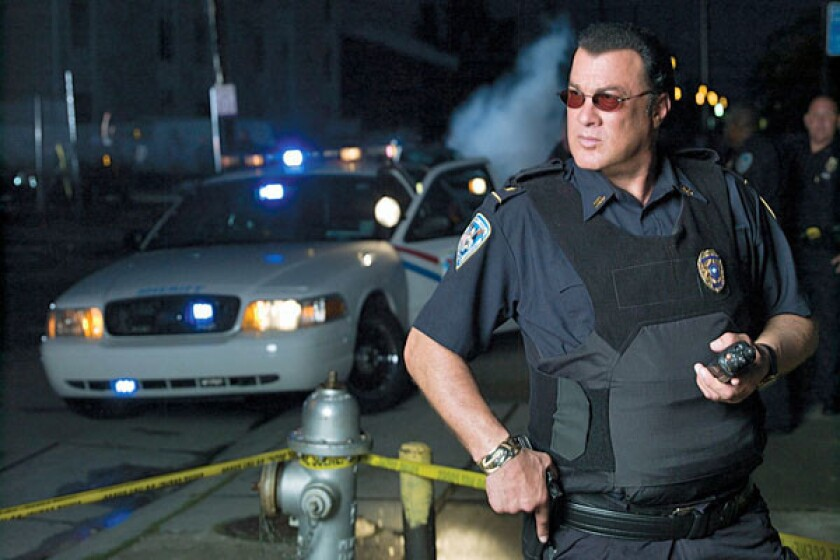 """Steven Seagal on the set of """"Steven Seagal: Lawman."""" The 60-year-old actor is lending some star power to the tiny sheriff's department whose coverage includes the U.S.-Mexico border."""