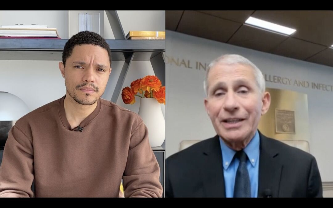 """Trevor Noah talks with Anthony Fauci on """"The Daily Show."""""""