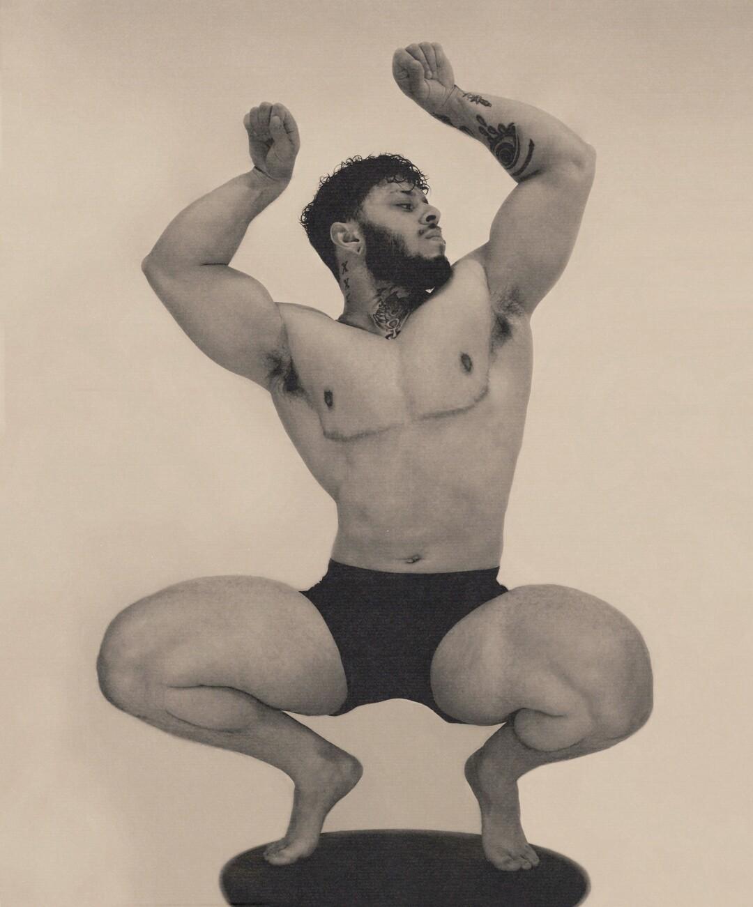 Bodybuilder Ajay Holbrook