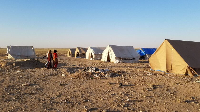 More than 3,000 people were living at Arishah camp without water, electricity or bathrooms. Each fam