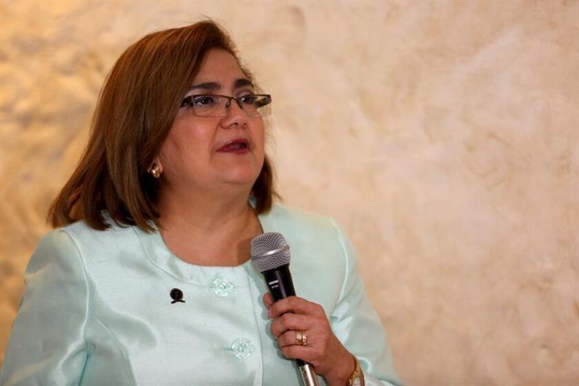 En la imagen, la ombudsman salvadoreña, Raquel Caballero. EFE/Archivo