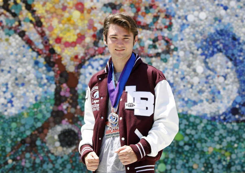 Laguna Beach's Logan Brooks was a two-time all-state performer in cross-country.