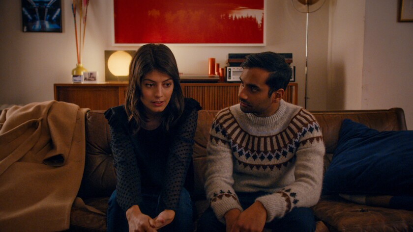 "Aziz Ansari and Alessandra Mastronardi in a scene from the second season of the Netflix series ""Master of None."""