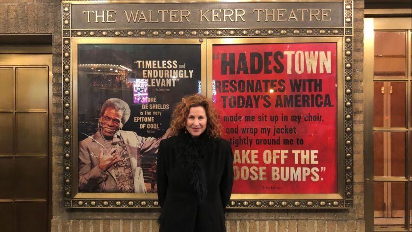 """Dale Franzen left her post as the artistic director of the Broad Stage in Santa Monica to become a lead producer on the Tony-nominated musical """"Hadestown."""""""