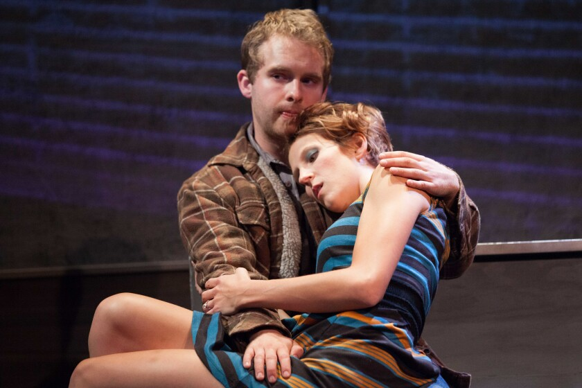 """Michael Hanson and Connor Kelly-Eiding in """"Nice Things"""" at Rogue Machine Theatre"""