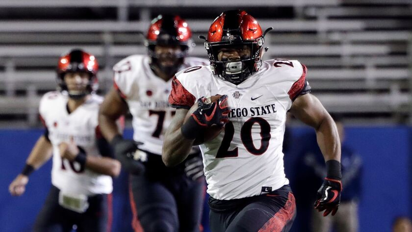 San Diego State running back Rashaad Penny was a first-round pick by the Seattle Seahawks two years ago.