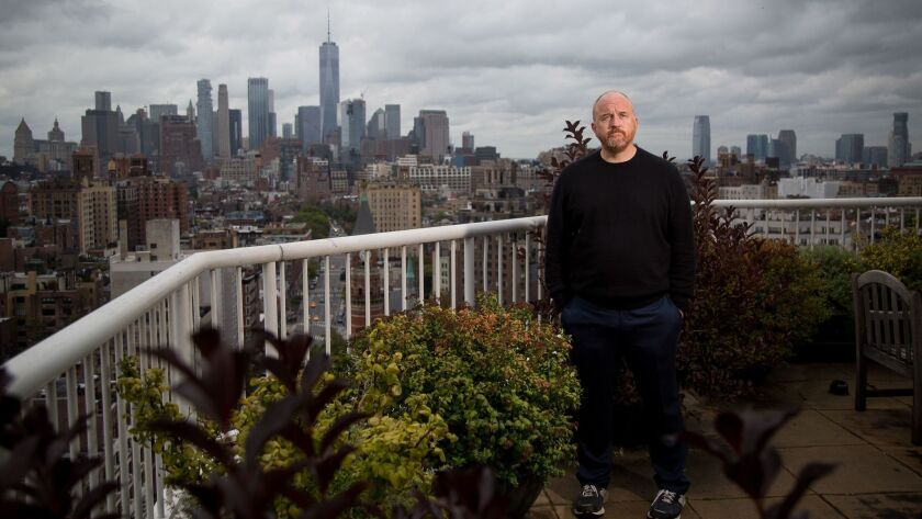 Comedian Louis C.K., shown in 2017, is back on the comedy circuit.