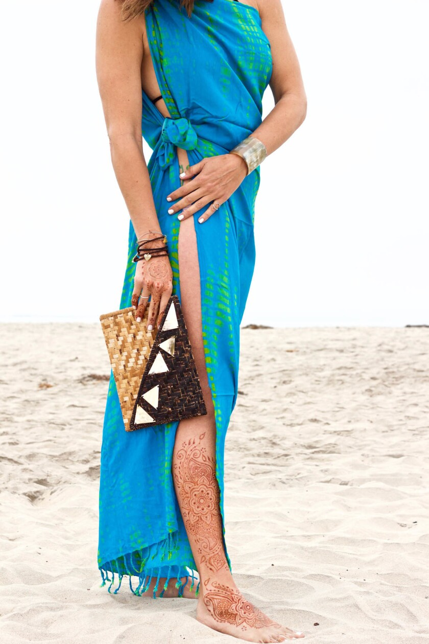 Limited-edition African-made sarong from Songa Designs. (Courtesy photo)