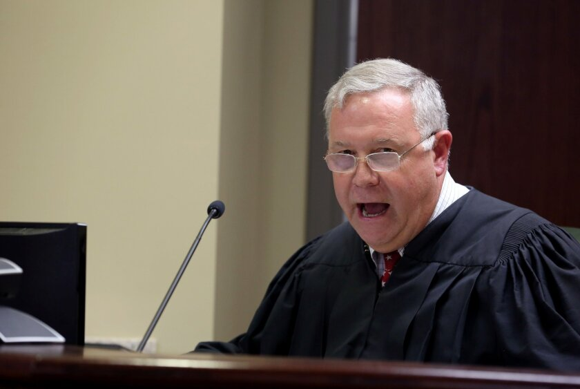 Chief Magistrate James Gosnell speaks at Dylann Roof's bond hearing Friday in Charleston, S.C.