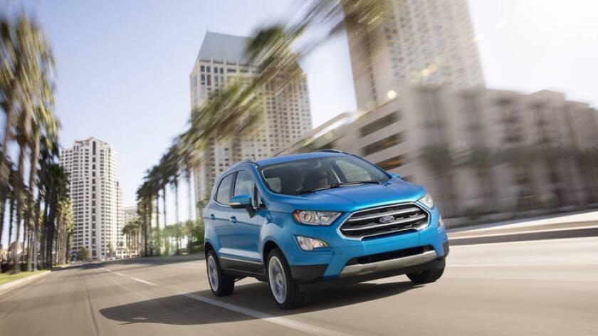 Ford EcoSport, es de los conocidos vehículos utilitarios compacto.