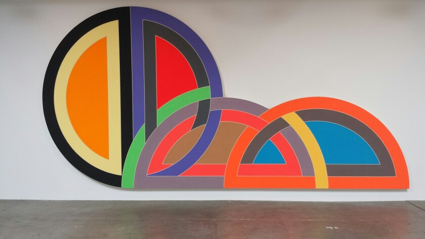 """Frank Stella's 1968 """"Ctesiphon I"""" is on loan from MOCA to a Culver City art gallery."""