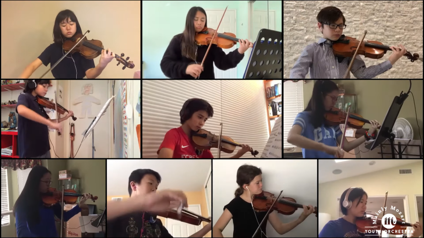 Students in Mainly Mozart's Youth Orchestra finished their season online because of the coronavirus pandemic.