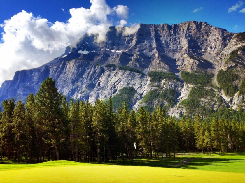 The Fairmont Banff Springs Golf Club in the Canadian Rockies offers stunning views at every turn.