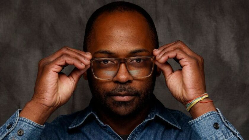 """Director RaMell Ross, from the film """"Hale County This Morning, This Evening,"""" is photographed in the L.A. Times Studio during the Sundance Film Festival in Park City, Utah."""