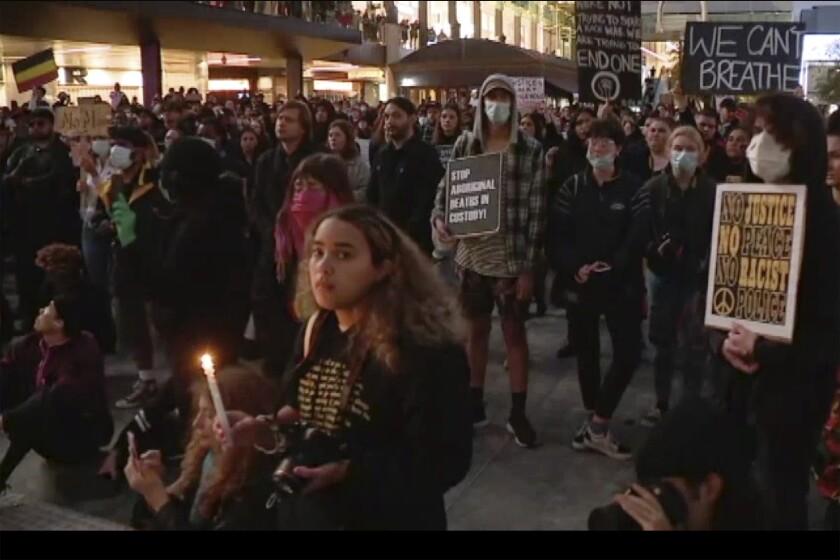 America Protests Australia