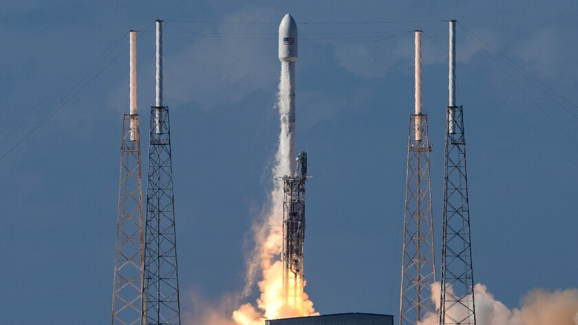A SpaceX Falcon 9 rocket lifts off from Cape Canaveral Air Force Station in Florida on May 27, 2016.
