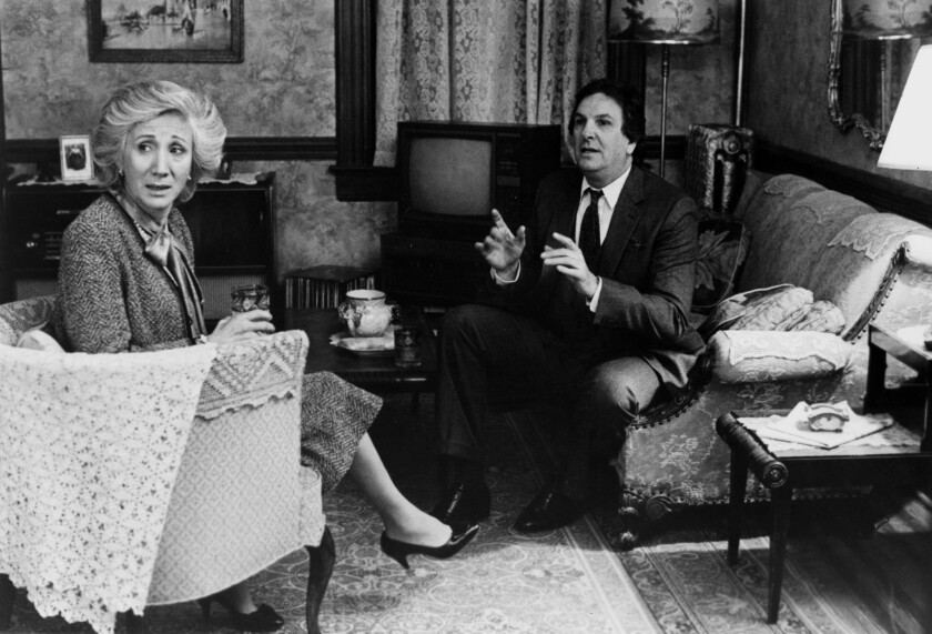 "Olympia Dukakis and Danny Aiello in a scene from 1987's ""Moonstruck."""