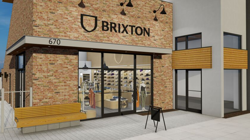 A rendering of Brixton's storefront in Encinitas, which is set to open in November.