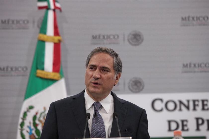 El presidente de CIE Alejandro Soberón habla durante una rueda de prensa en Ciudad de México. EFE/Archivo