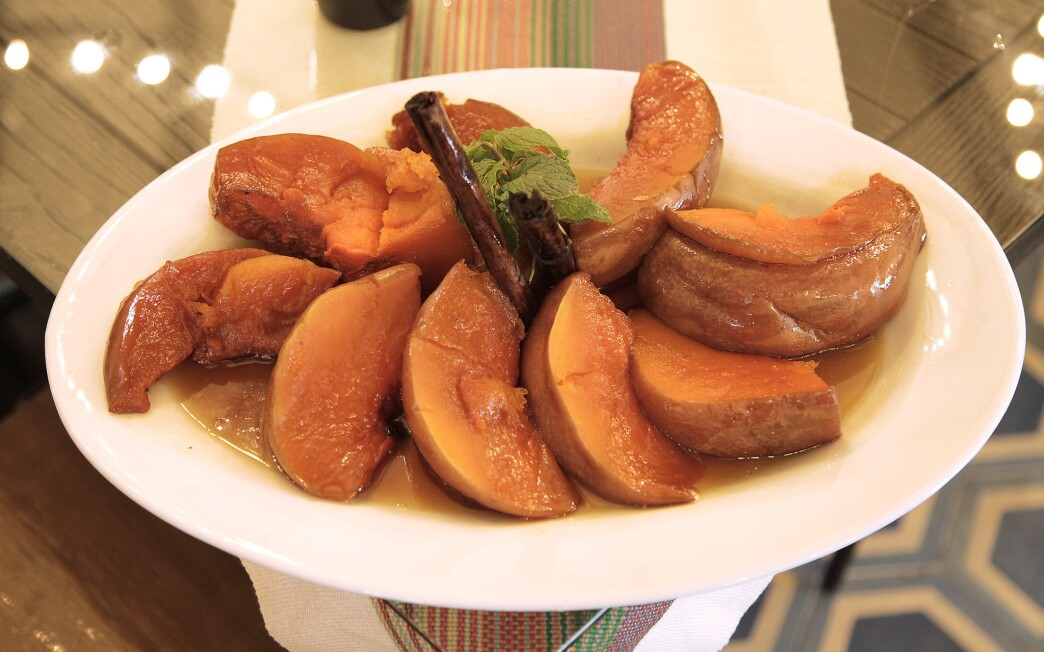 Candied pumpkin (Calabaza en tacha)