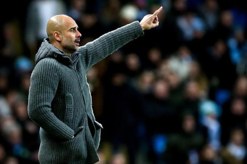 El entrenador de Manchester City, Pep Guardiola. EFE/Archivo
