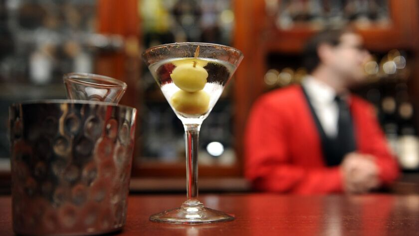 The classic martini at Musso & Frank Grill in Hollywood.