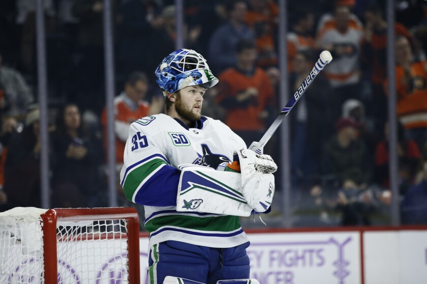 Vancouver's Thatcher Demko is the second California-born goaltender to play in the Stanley Cup playoffs.