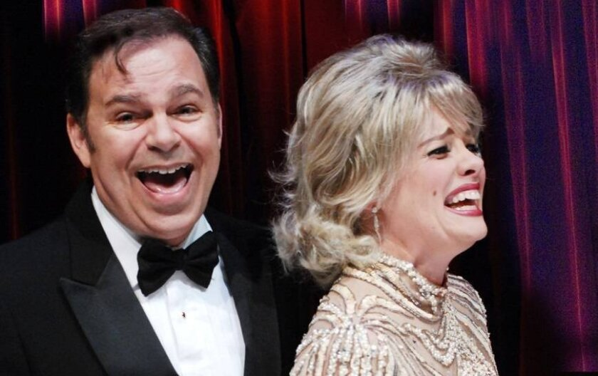 """Phil Johnson and Eileen Bowman in Lamb's Players Theatre's """"Pete 'n' Keely."""""""