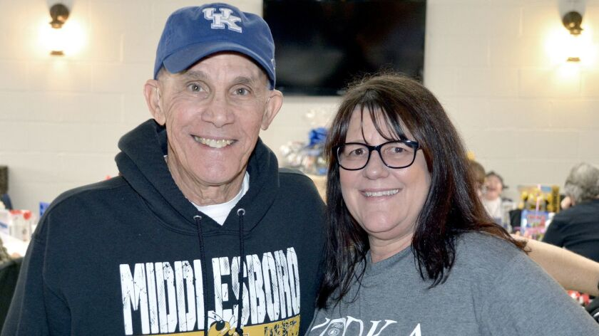 Mickey DePalo and Shelly Real of VFW Post 8310 were among those who made last week's breakfast fundr