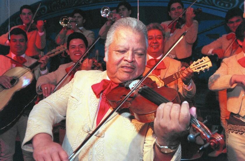 Nati Cano performs with Mariachi los Camperos in 1996.