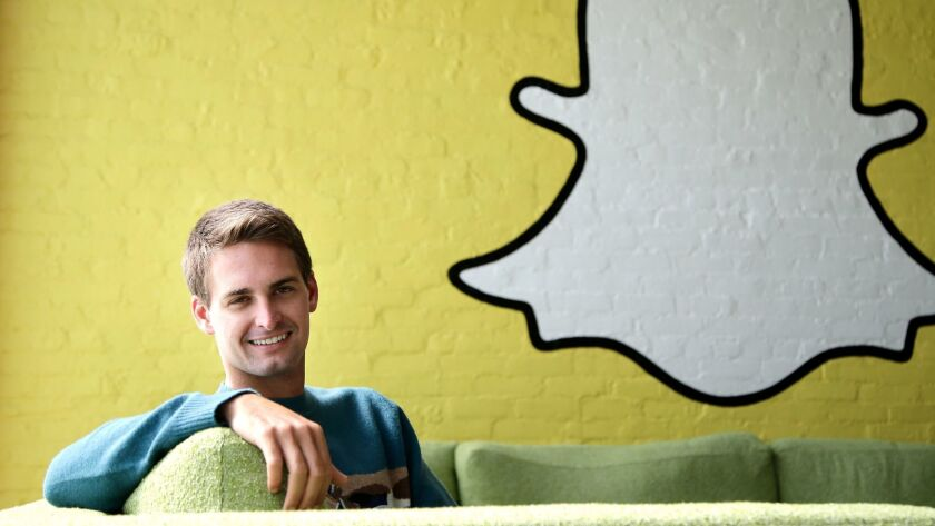 Snap CEO Evan Spiegel, whose company is due to be the next big tech IPO.