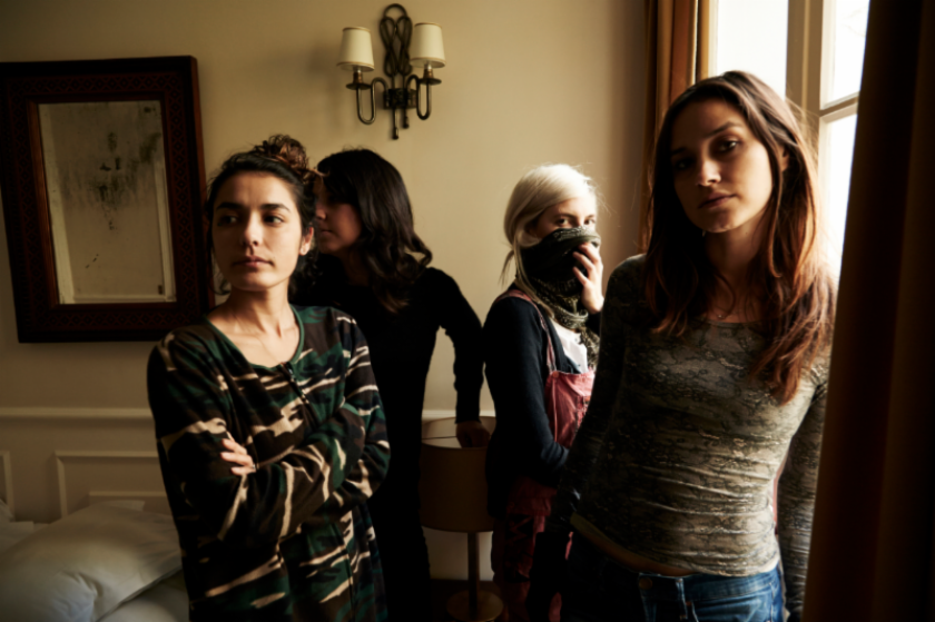 The band Warpaint, who caught flak for some recent criticism of Beyonce and Rihanna.