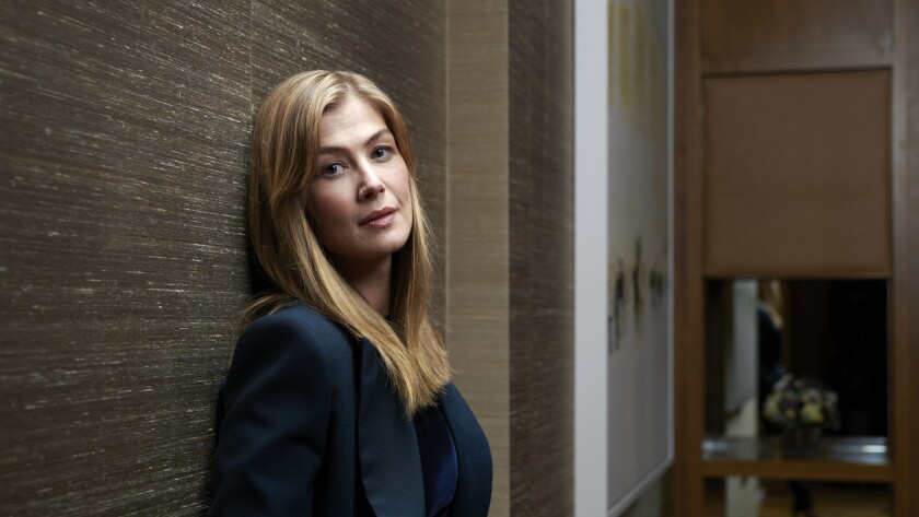 "Rosamund Pike wanted to play war correspondent Marie Colvin as soon as she learned of the project. And she made sure director Matt Heineman knew that. ""I had passion and conviction and I wanted him to hear it,"" Pike says."