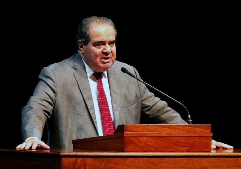 Supreme Court Justice Antonin Scalia speaks at the University of Minnesota last year.