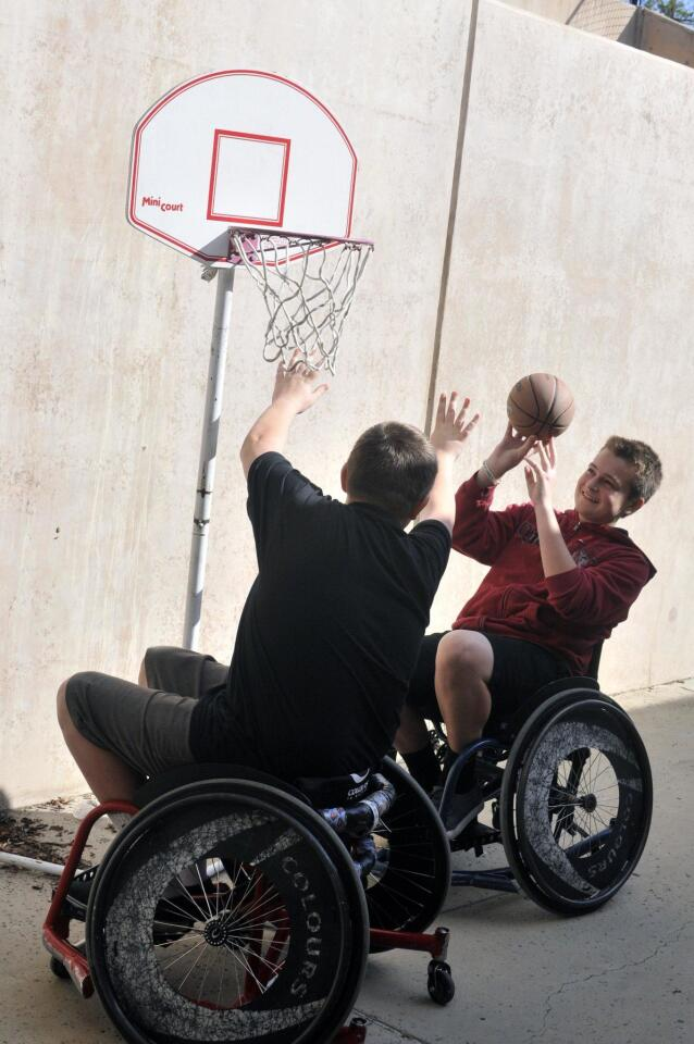 Students in adapted PE classes compete in annual basketball tournament