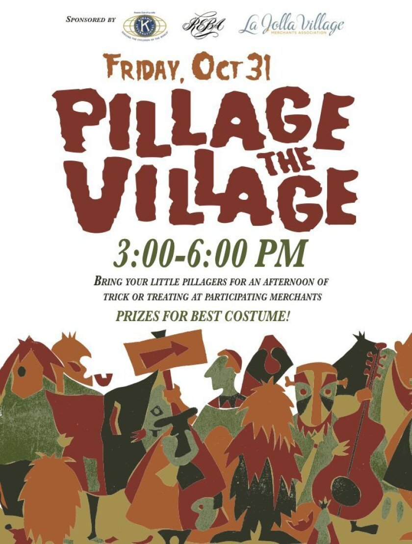 The LJVMA will once again host its Halloween trick-or-treating event for children along Girard Avenue 3-6 p.m. Oct. 31 with help from participating merchants. pillagethevillage.info Courtesy