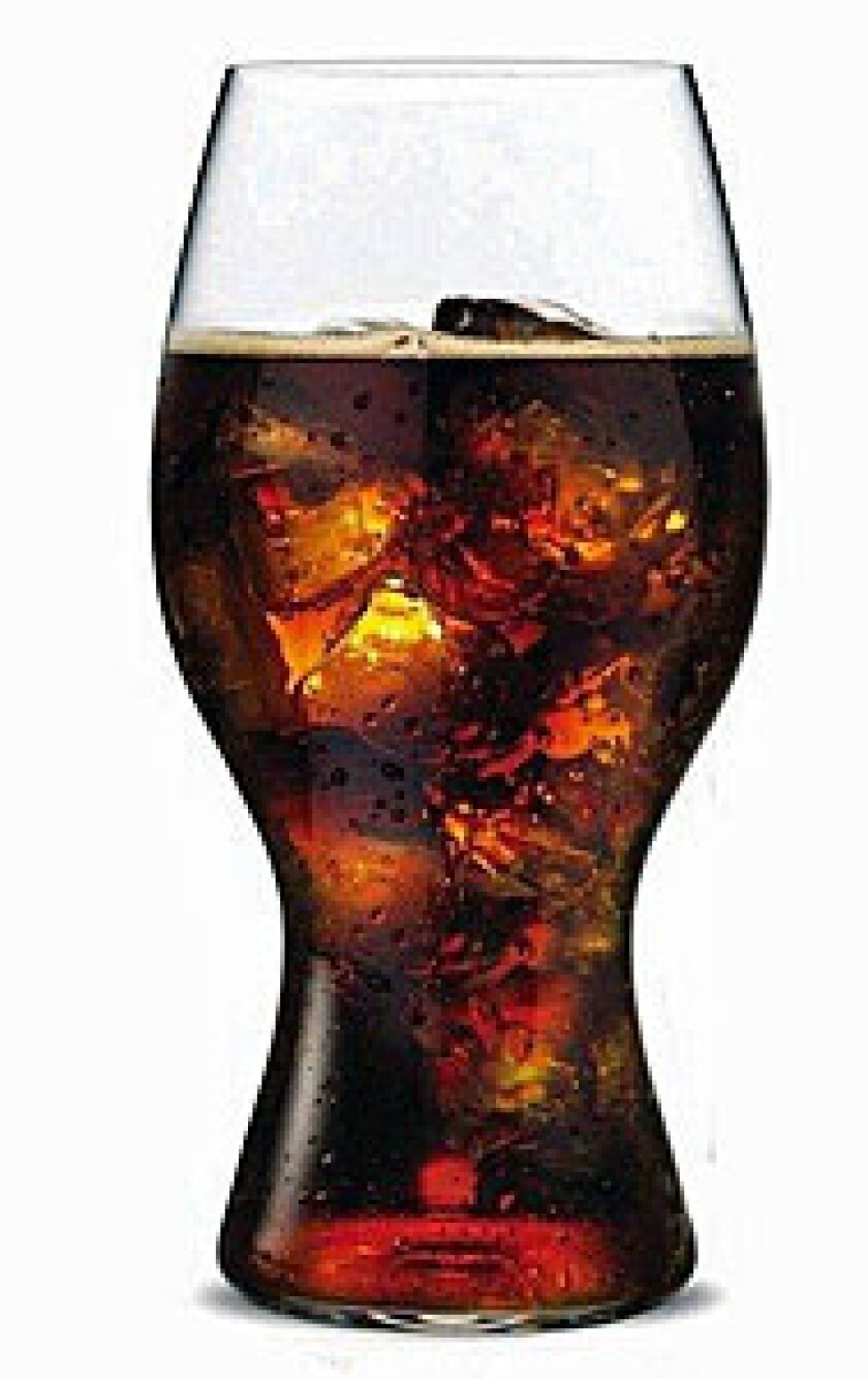 Riedel, the Austrian wine glass maker, has designed a glass specifically for Coca-Cola. Made of lead-free crystal, it sells for $20 each or $30 for a two-pack.