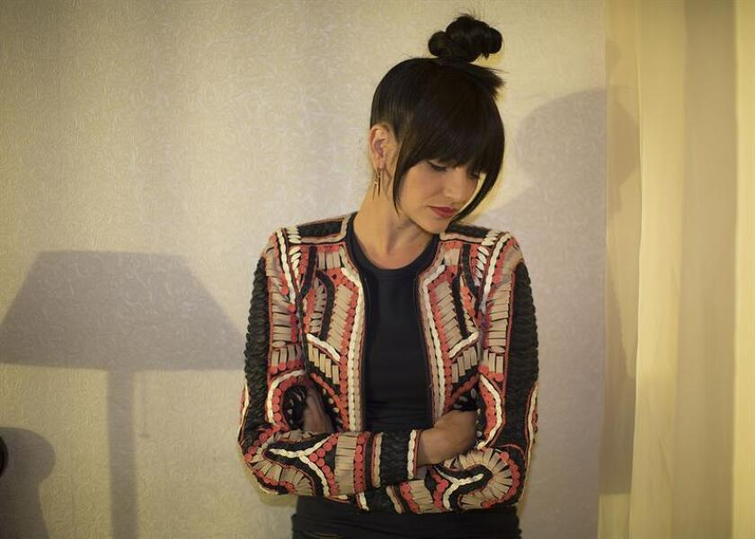 La cantante española Natalia Jiménez posa para Efe durante una entrevista en West Hollywood, California. EFE/Archivo