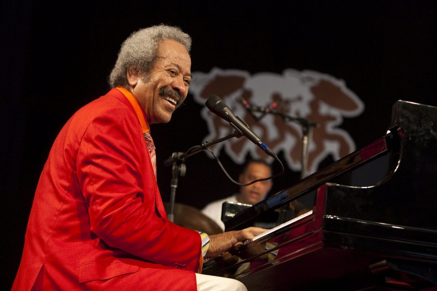New Orleans musician, composer and record producer Allen Toussaint performing on the Jazz Tent stage at the New Orleans Jazz and Heritage Festival in 2010. Toussaint died in Spain after a performance.