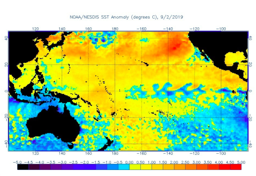 A giant mass of warm water off the Pacific Coast could rival ...