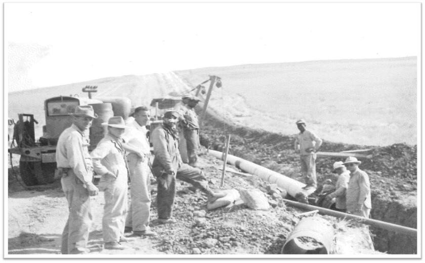 Line 1600 installation in 1949