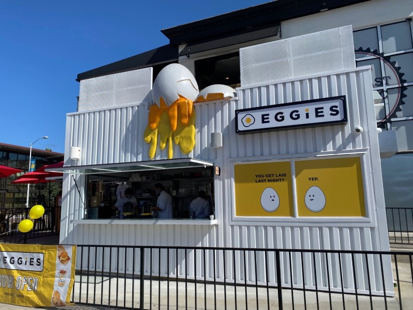 Eggies Pacific Beach is one of several new restaurants that have opened this month, in spite of the ongoing pandemic.