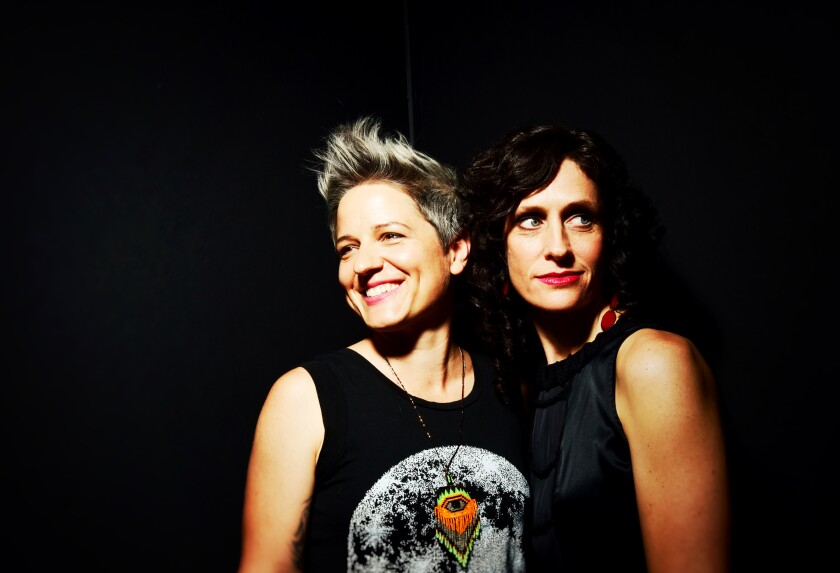 Drummer Allison Miller (left) and violinist Jenny Scheinman are the co-leaders of the audacious new band Parlour Game,  which released its debut album in 2019 and performed at the Athenaeum Music & Arts Library in La Jolla.