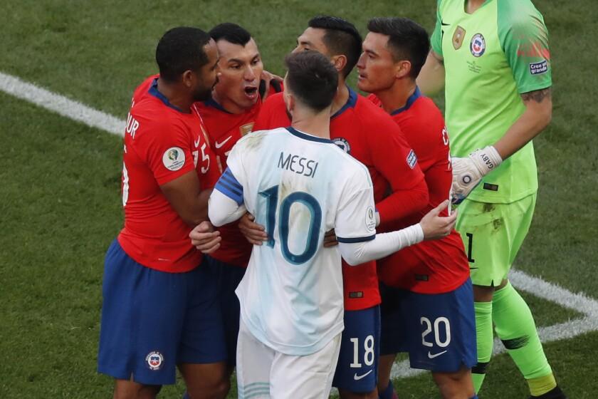APphoto_Brazil Soccer Copa America Argentina Chile
