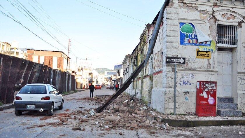 Earthquake strikes