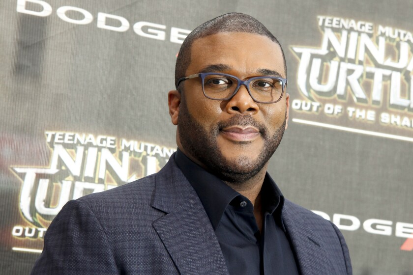 """Tyler Perry attends the world premiere of """"Teenage Mutant Ninja Turtles: Out of the Shadows"""" at New York's Madison Square Garden on May 22."""