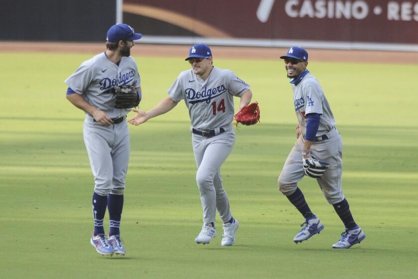 The Los Angeles Dodgers' Enrique Hernandez