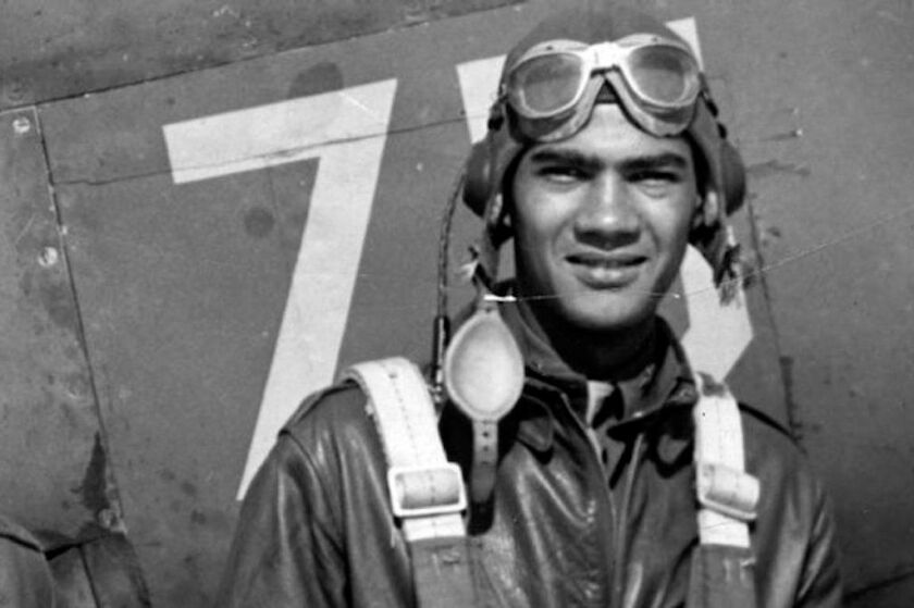 This undated photo provided by the Pentagon's Defense POW/MIA Accounting Agency shows Lawrence Dickson, a New York pilot killed during World War II.