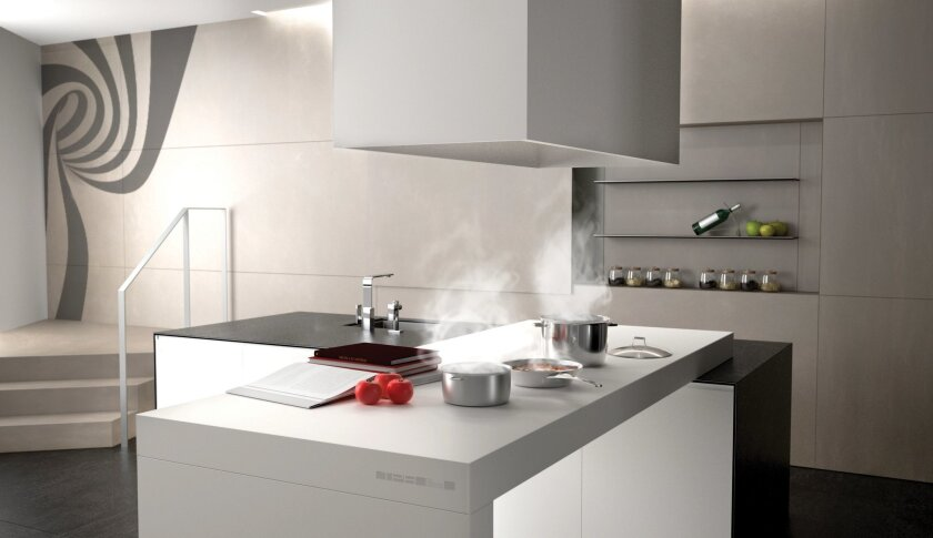 Induction cooking is built right into this countertop.
